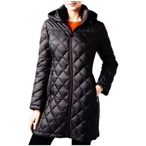 Michael Kors Hooded Packable Quilted Puffer Jacket